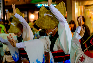 The Awa Odori Dance of Shimo-Kitazawa