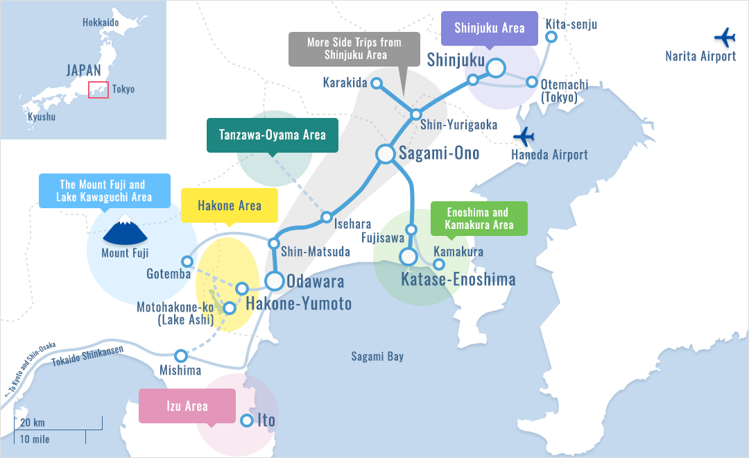 Getting to the Mount Fuji and Lake Kawaguchi Area Odakyu Railway