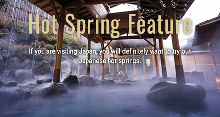 Hot spring feature