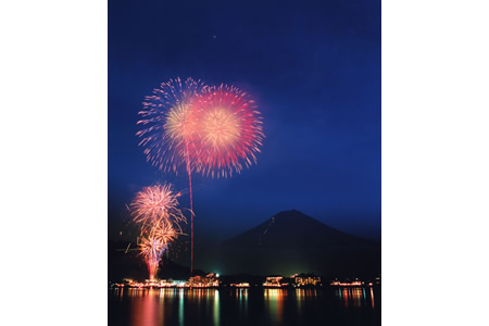 Fuji Five Lakes Fireworks Festivals