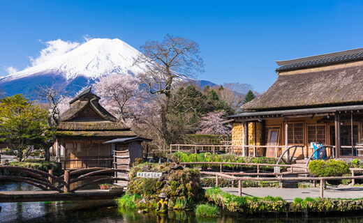 Oshino-hakkai (Eight Springs of Mount Fuji)