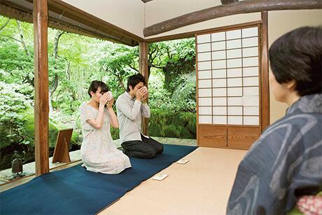 하쿠운도차엔에서 일본 문화를 체험해 보세요.